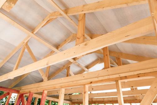 Drewniana konstrukcja szkieletowa - dom szeregowy