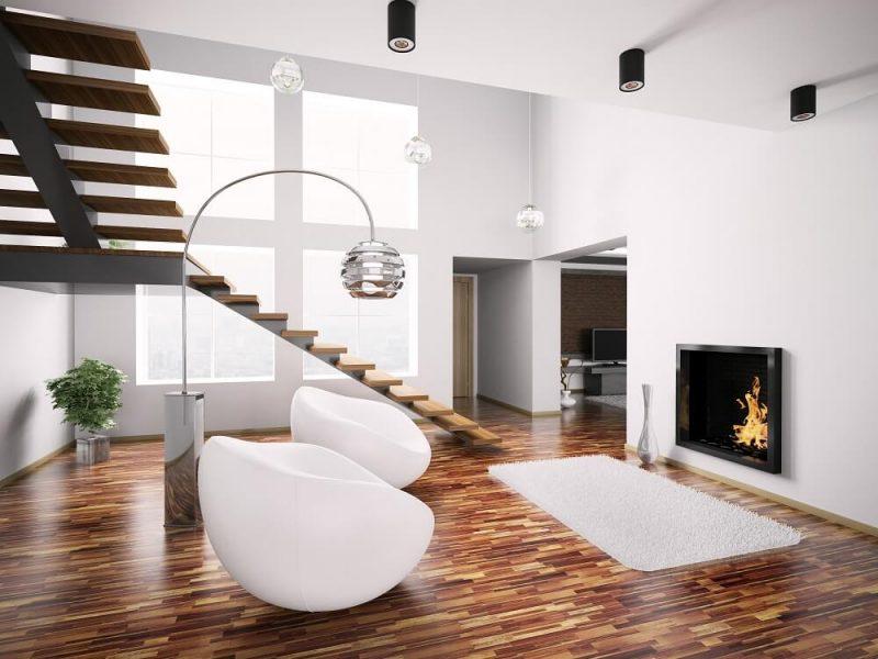 Wygląd wnętrza domu w zabudowie szeregowej